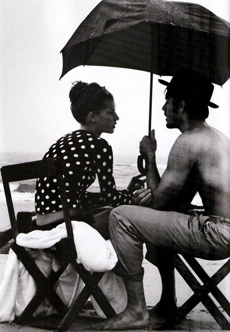 he and i: At The Beaches, Rain Couple Photo Shoots, Umbrellas, Beaches Engagement, White Black Polka Dots Tops, Rainy Day, Romances, Harpers Bazaars, Love Couple Black White