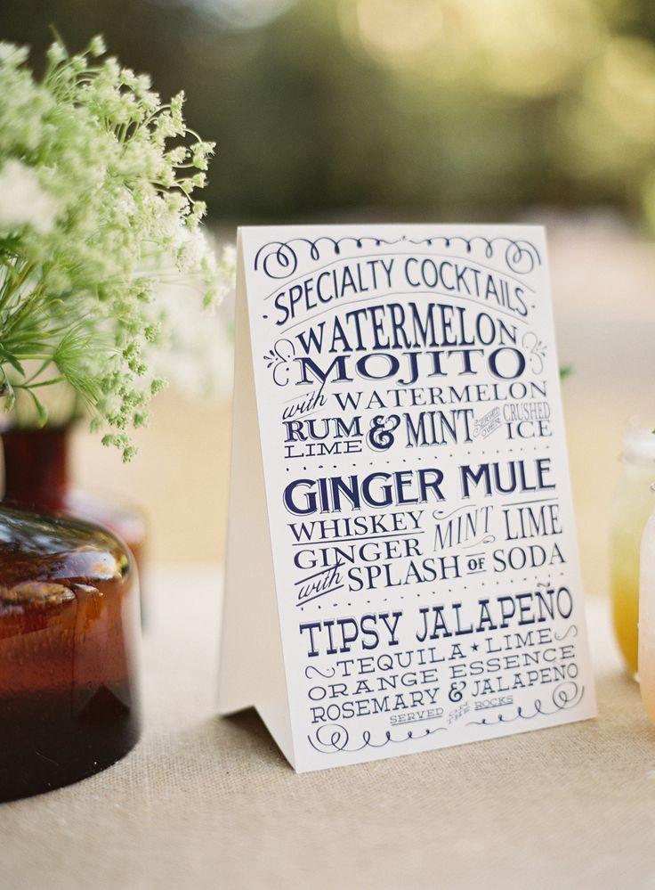top 25 ideas about wedding drink menu on pinterest
