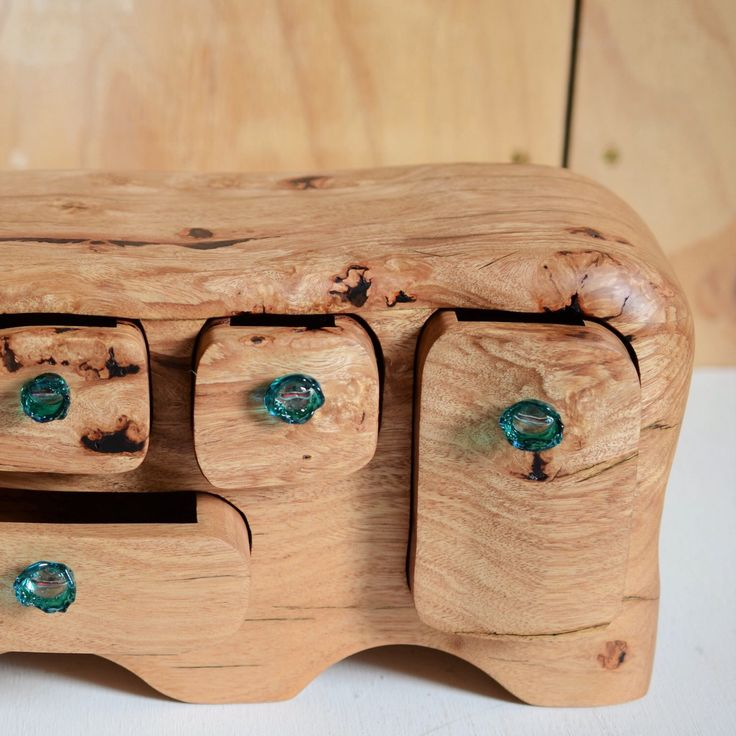 Sweet lines ship box with three secret drawers and underwater kelp forest glass ⚓️⚓️⚓️