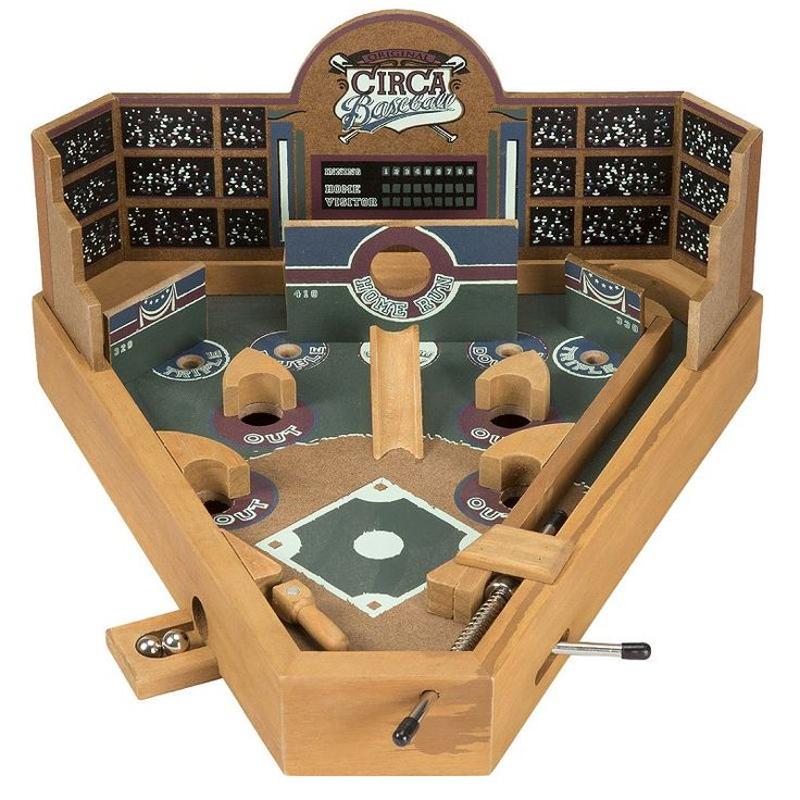 Hey! Play! Tabletop Baseball Pinball Game, Brown