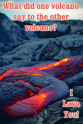 What does one volcano say to the other? Dig Into Geology with us for more science fun! http://www.minimegeology.com/home/mgeo/smartlist_11/dig_into_geology.html