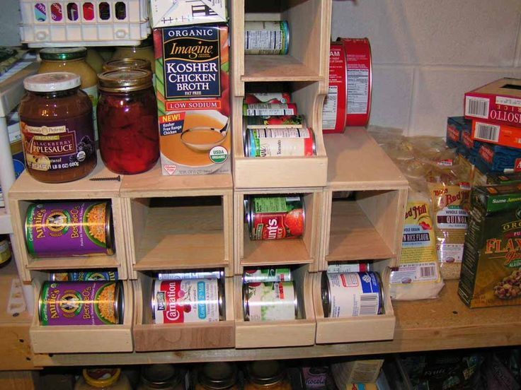 first in first out shelf plans diy fifo can storage