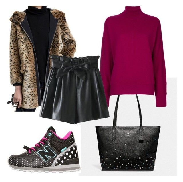 """""""Bimba y lola animal print coat 2"""" by andreia-martins-guedes on Polyvore featuring Astraet"""