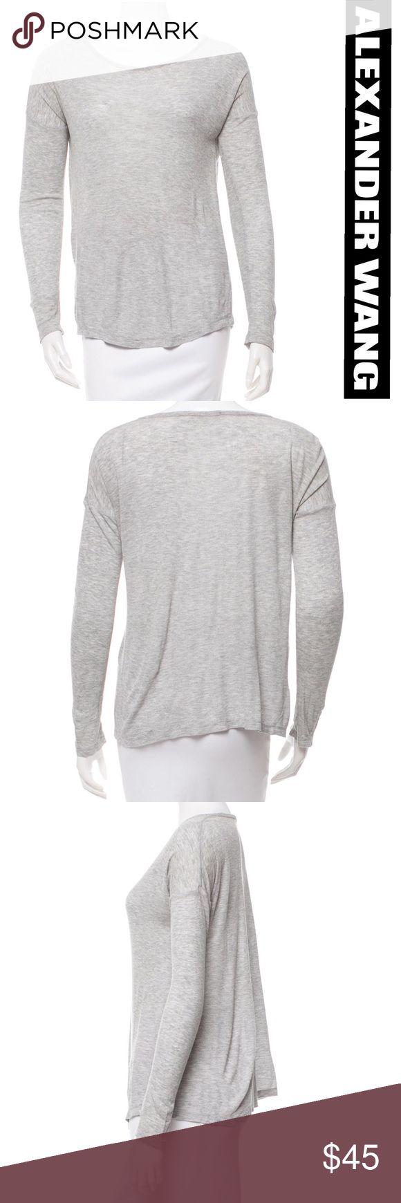 "Alexander Wang Grey Long Sleeve Top Alexander Wang Grey Long Sleeve Top - NWOT. This is from the T By Alexander Wang. Measurements: Bust 42"", Waist 40"" and Length 25"" Alexander Wang Tops Tees - Long Sleeve"
