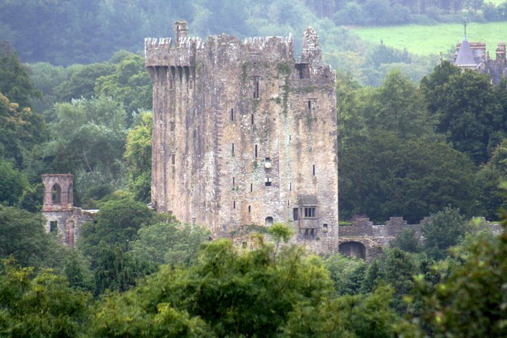Blarney Castle...I kissed the Blarney Stone on a cold and drizzly fall evening.  If you are brave enough to lean back over the castle ledge to kiss the stone, you'll get the gift of gab.