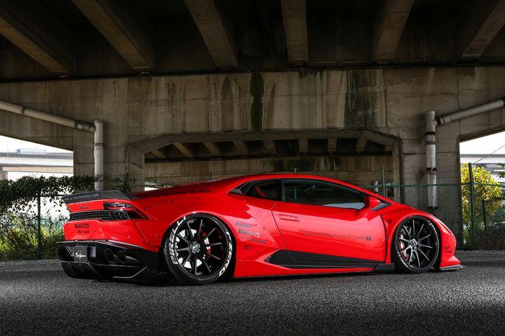 Liberty Walk gives the Lamborghini Huracan the Wide Look
