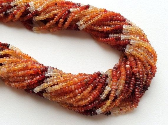 WHOLESALE 5 Strands Fire Opal Beads Mexican Fire by gemsforjewels