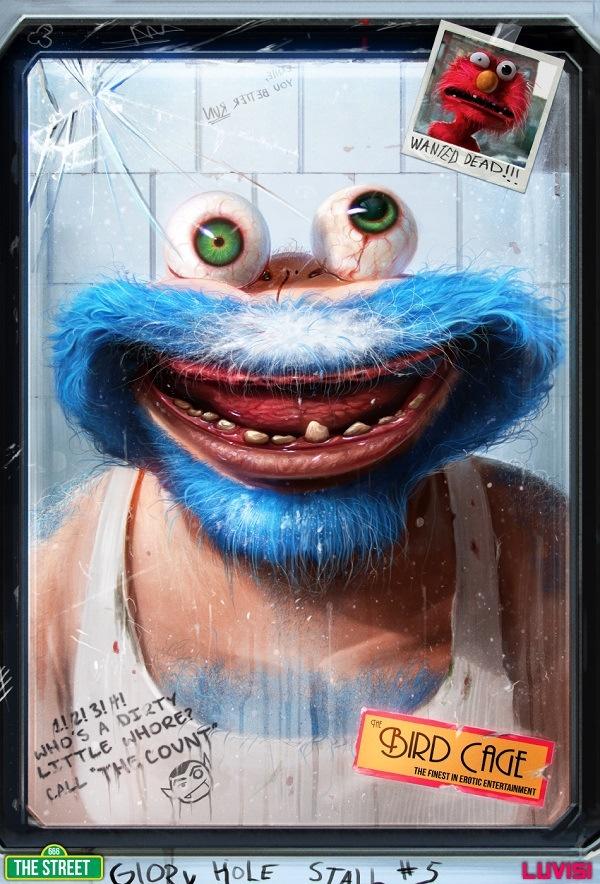 Popular Cartoons Reimagined As Horrifying Monsters