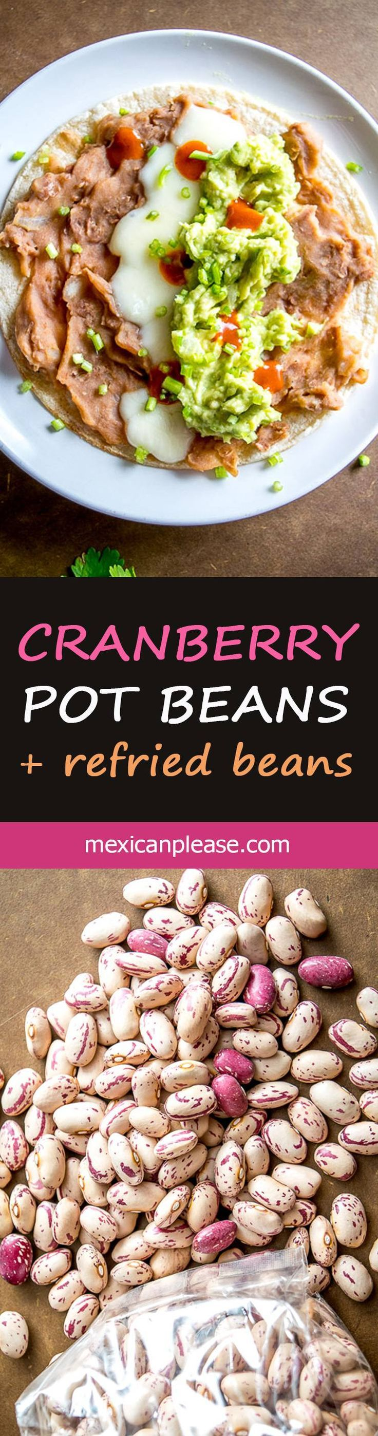 You can think of these Cranberry Beans as Pinto Beans Lite.   They have a similar flavor to pintos but are creamier and slightly less 'beany'.  A great option for refried beans!  http://mexicanplease.com