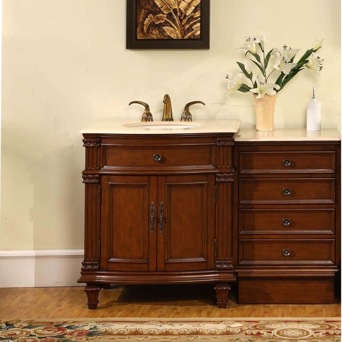one sink vanity cabinets. Silkroad Exclusive Marble Top 51 inch Single Sink Vanity Cabinet  Crema Marfil Best 25 sink vanity ideas on Pinterest