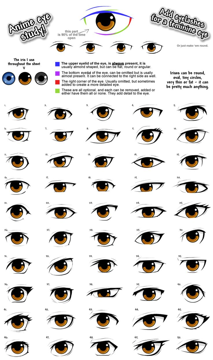 Eye shapes! Works for boys and girls!                                                                                                                                                      More