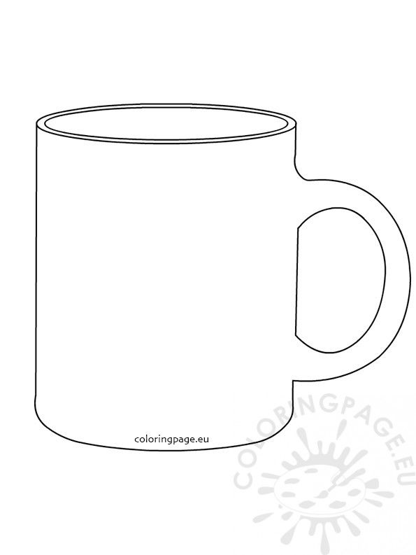 Coffee Mug Coloring Page Cup Coloring Page Awesome Free Coloring