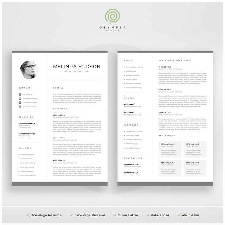 Cv Template With Photo Professional Resume Template For Word Etsy In 2021 Resume Template Professional Resume Templates Resume Template