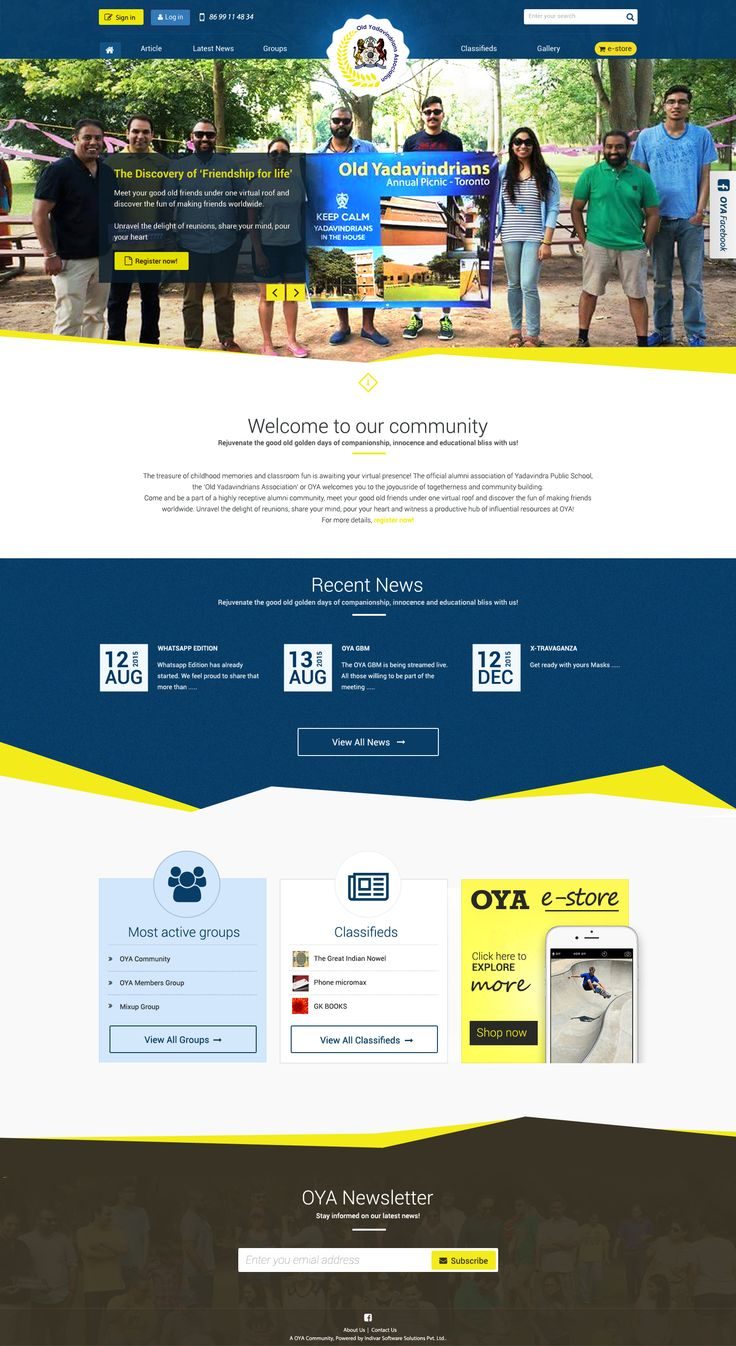 Website design  for School Alumni (Community website, forum )