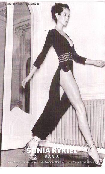 Vintage ad for Sonia Rykiel fashions, 1997