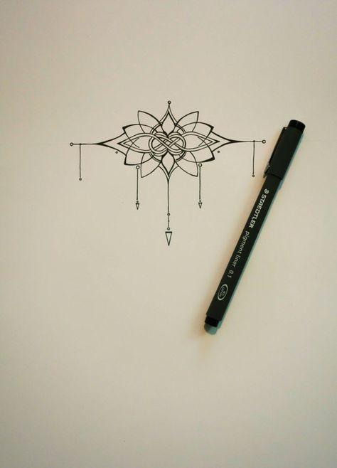 PRICE DROP Knot and Lotus Tattoo van abirdsDesigns op Etsy