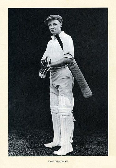 Don Bradman photographed in 1934. The Australian batting legend aged 26.