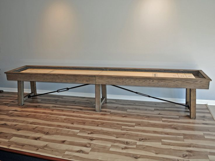 isaac shuffleboard table side view