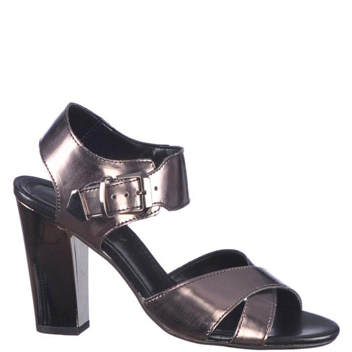 Sandale de dama, marca Thurley culoare gri inchis metalic. In ciuda tocului inalt de 10,3 cm sunt foarte flexibile si comode. Realizate din piele naturala atat in exterior cat si in interior, cu talpa sintetica usoara,recomandate pentru tinute elegante.