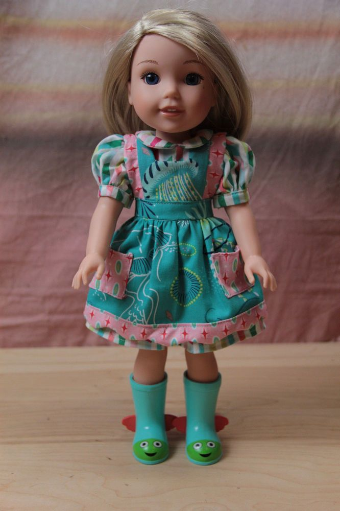 Handmade Jellyfish Apron Dress Outfit for AMERICAN GIRL Wellie Wishers Dolls #Unbranded