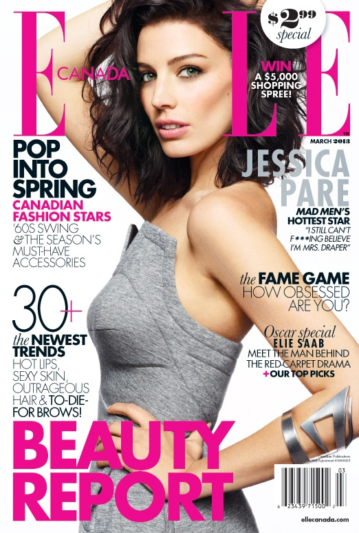 March 2013 cover girl Jessica Pare chats to ELLE Canada about her role on Mad Men, her Montreal roots and her spare time antics!