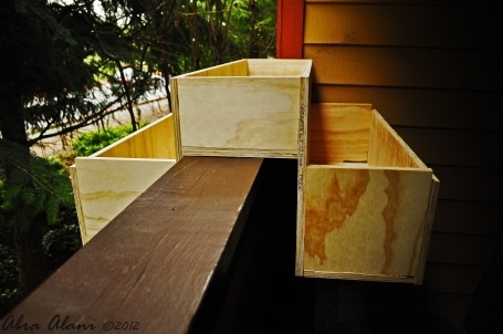 Homemade planter box