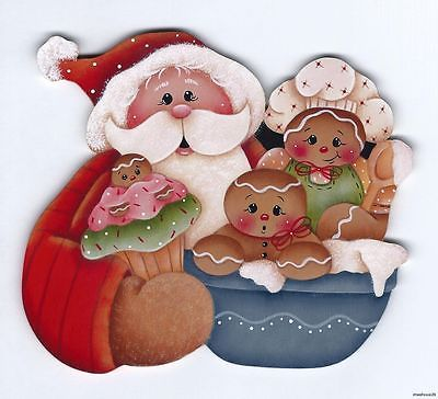 HP Santa With Gingerbread Fridge Magnet | eBay