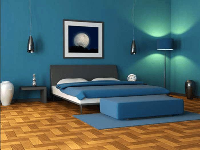 Schlafzimmer Design Blau