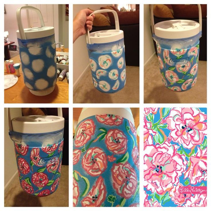 Diy Painted Cooler : Best images about diy cooler painting designs on