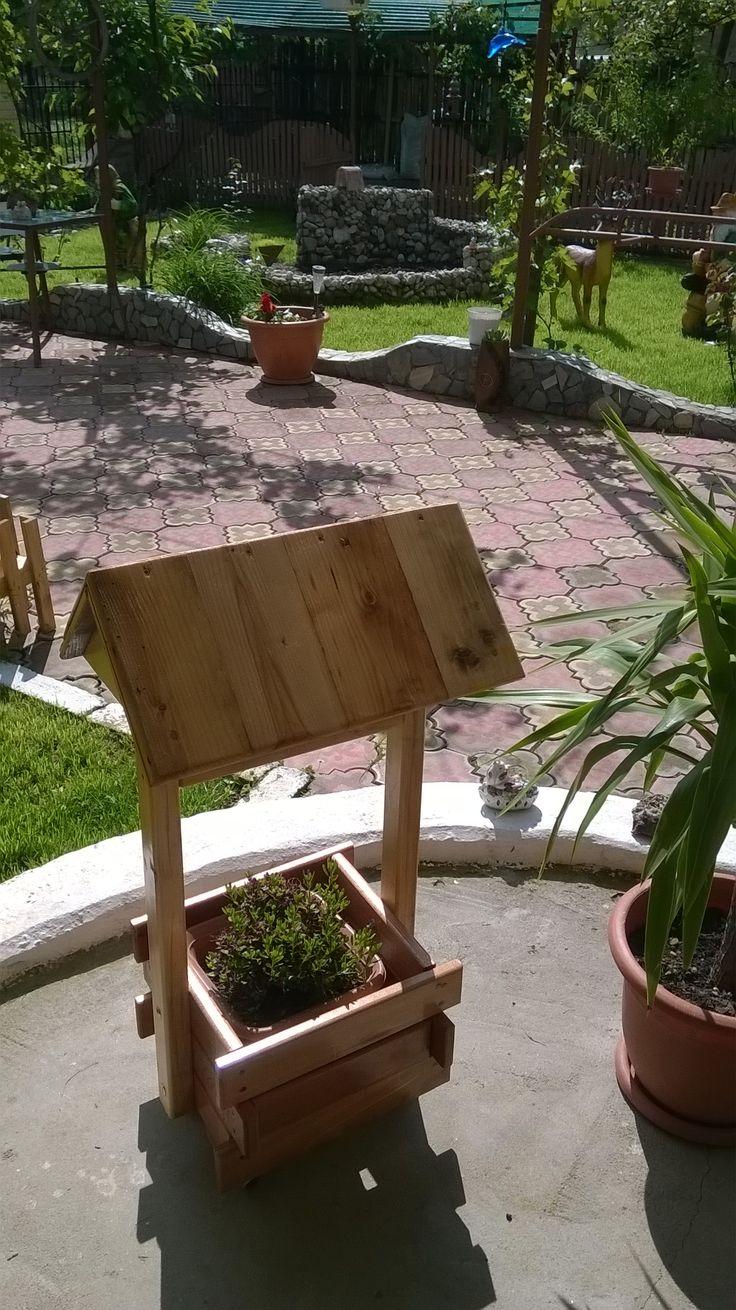 Support backyard planter shaped fountain5