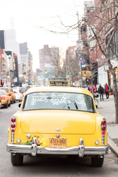 Make a grand exit the big city way on your special day. Incorporate elements that make your favorite city a special place to your wedding day.
