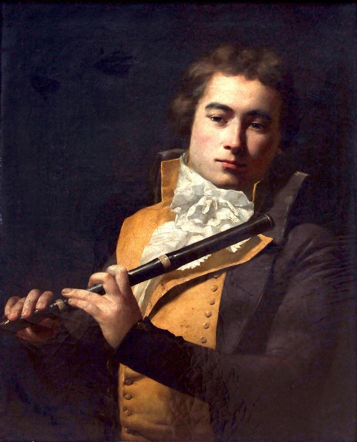 Circle of Jacques-Louis David, Portrait of the Flautist Francois Devienne, c. 1792