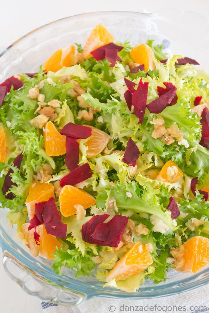 Winter salad #salad #healthy #food danzadefogones.com
