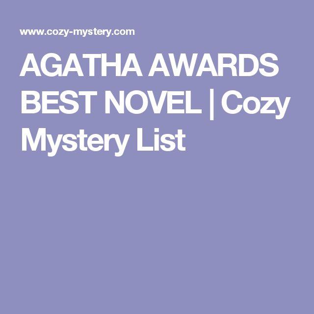 AGATHA AWARDS BEST NOVEL | Cozy Mystery List