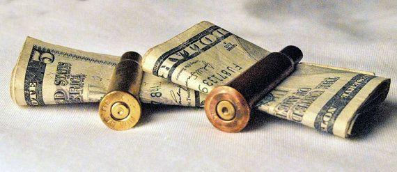 Son Of A Gun! Bullet Casing Money Clip / Tie Clip 7.62x54R PPU Round. on Etsy, $10.00