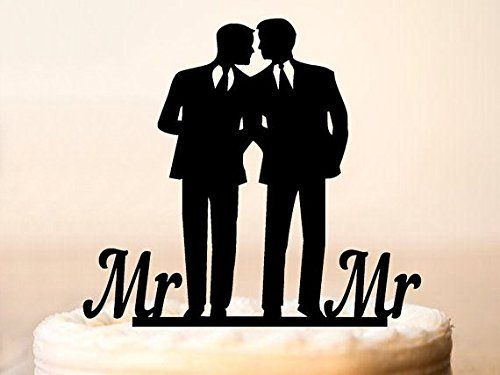 Gay cake topper for weddingsame sex cake toppergay silhouette cake topperwedding cake topper for men giftgay cake toppergay men *** Visit the image link more details.-It is an affiliate link to Amazon.