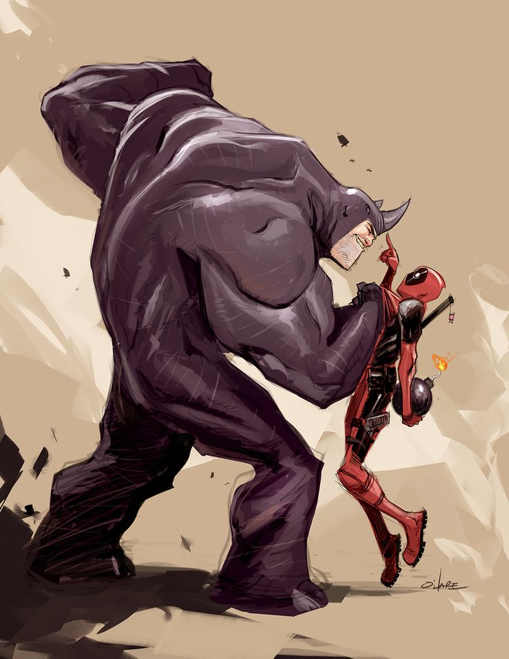 Deadpool Vs. Rhino | Michael O'Hare                                                                                                                                                                                 More