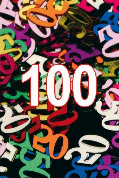 Gekleurde confetti 100 jaar. 100 Jaar confetti in verschillende kleuren. Dit zakje confetti 100 jaar heeft een gewicht ongeveer 15 gram. Deze 100 Jaar confetti mag niet ontbrekend op uw feest als bijvoorbeeld decoratie.