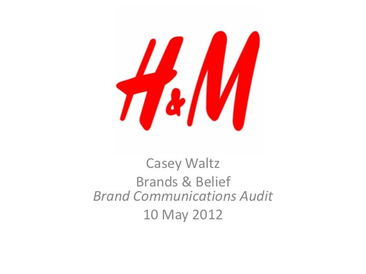A presentation on the state of H&M's advertising (through their Spring 2012 collection) in terms of their print and online branding strategies as well as sugge…