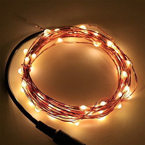 KCRIUS(TM) 16.4Ft Copper Wire LED Starry Lights, 12V DC LED String Light, Includes Power Adapter, with 50 Individual Leds (Warm White) KCRIUS(TM) http://www.amazon.com/dp/B00W3GUPOU/ref=cm_sw_r_pi_dp_r6tmvb0RPAVNX