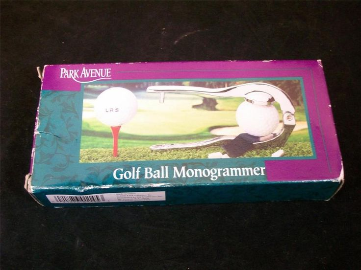 Park Avenue Golf Ball Monogrammer NIB / FREE SHIPPING #ParkAvenue