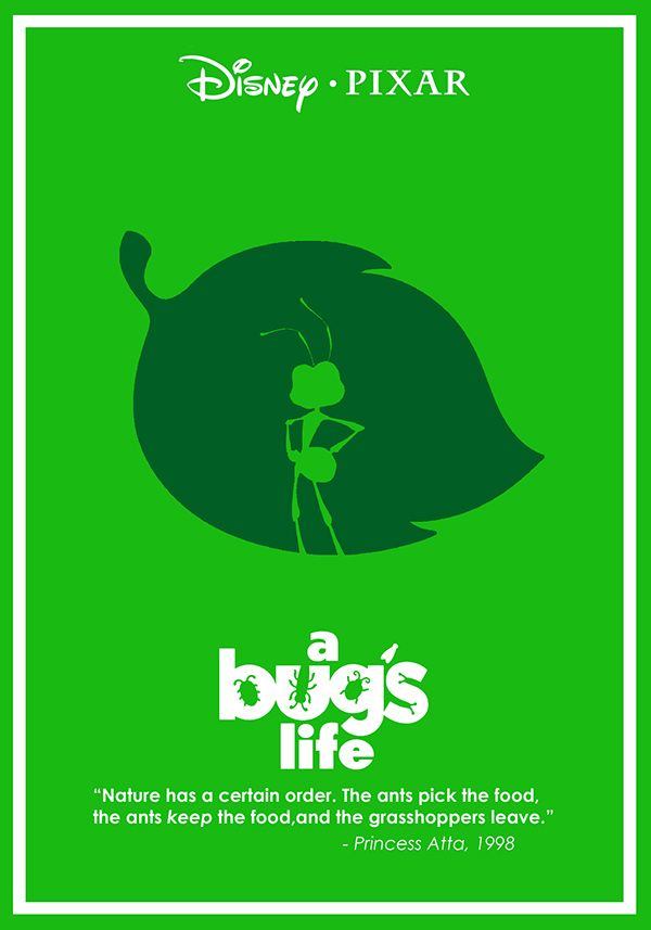A Bug's Life (1998) ~ Minimal Movie Poster by Ben Xue #amusementphile