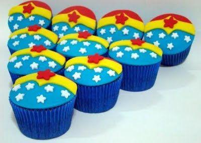 Wonder Woman cupcakes