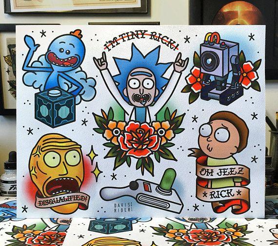 Rick en Morty Flash blad