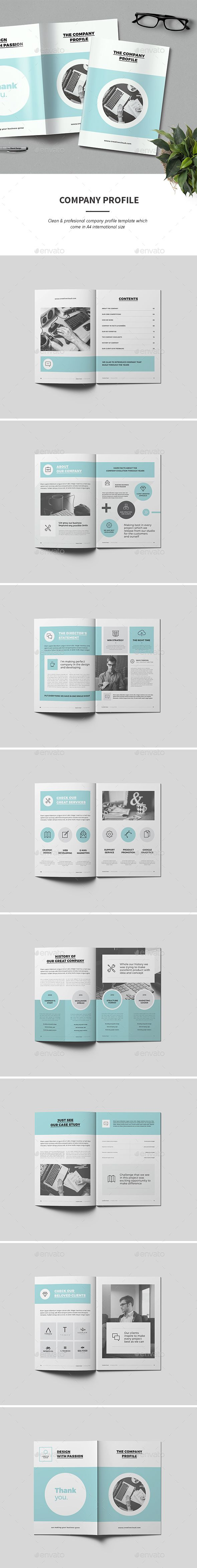 Company Profile — InDesign INDD #corporate #clean • Download ➝ https://graphicriver.net/item/company-profile/18934096?ref=pxcr