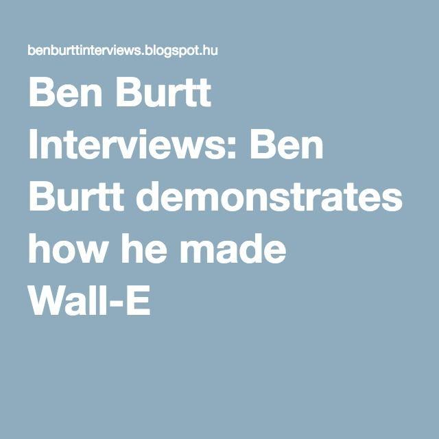 Ben Burtt Interviews: Ben Burtt demonstrates how he made Wall-E