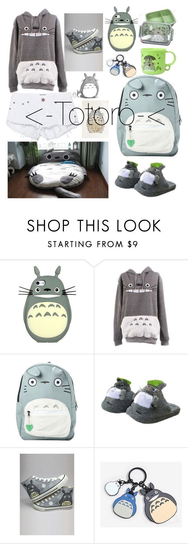 """Totoro"" by plum-perfect ❤ liked on Polyvore featuring Ghibli, WithChic and One Teaspoon"