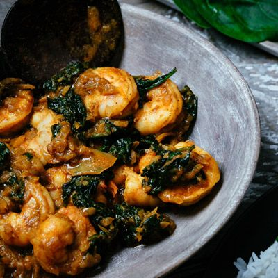 Prawn Saag  #curry #india #indianfood #indiancuisine #cuisine #food #recipe #foodinspiration #travelfood #authenticindia #meatfree