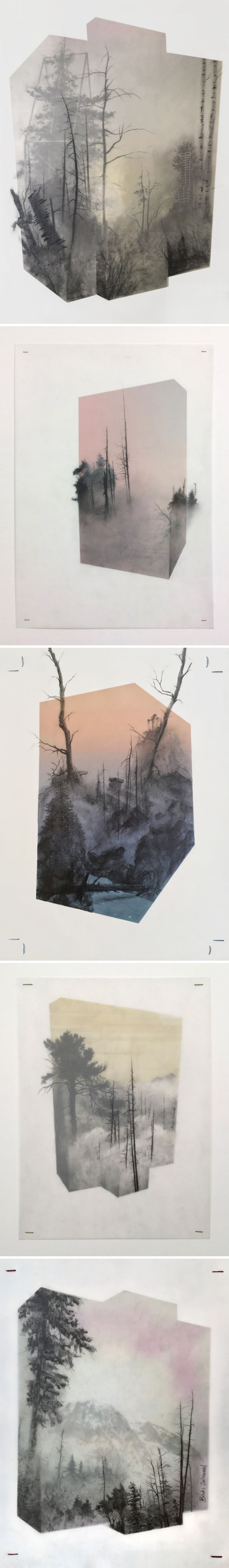 An unbelievable 3d drawing (yes, a drawing!) by Brooks Salzwedel​.