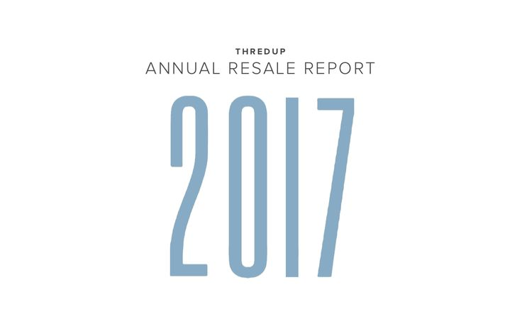 The world's largest online thrift store has published their Fifth Annual Fashion Resale Market and Trend Report. Surprising stats on the fastest growing sector of the apparel industry.